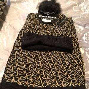 Bebe Hat and Scarf set